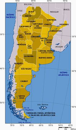 Exchange Languages In Argentina - Argentina map in spanish