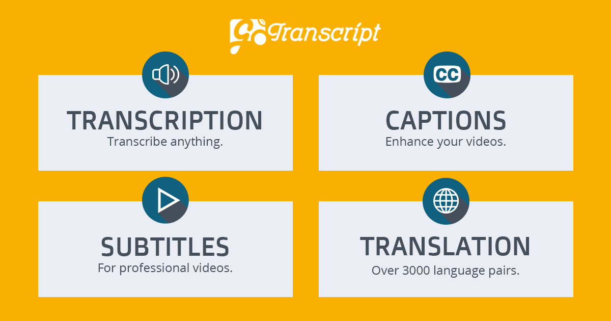 Transcribe your videos or Audios in English Language