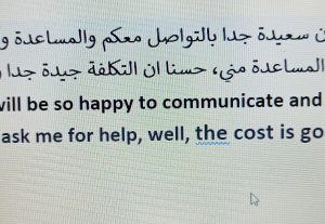 Online and offline translations, Arabic teaching, proofreading and editing
