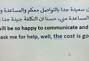 Online and offline translations, Arabic teaching, proofreadi...