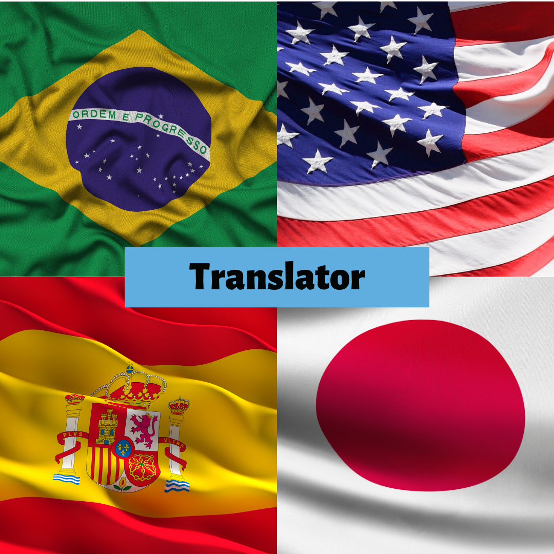 Translator: Portuguese to English – Japanese – Spanish (vice versa)