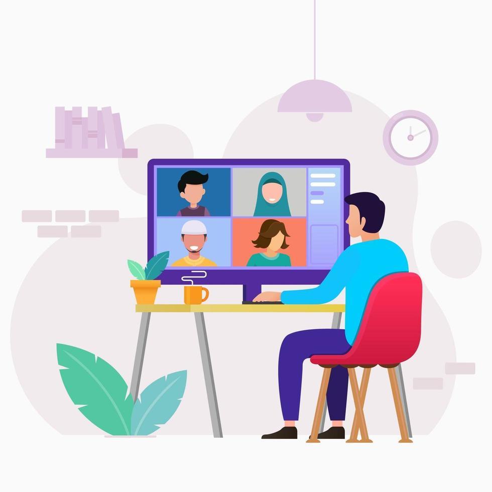 Online English Conversation session