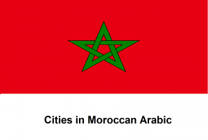 Cities in Moroccan Arabic