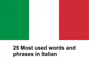 25 Most used words and phrases in Italian