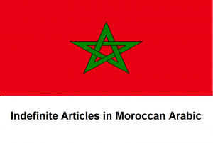 Indefinite Articles in Moroccan Arabic