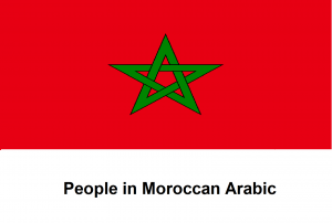 People in Moroccan Arabic