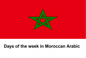 Days of the week in Moroccan Arabic