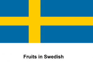 Fruits in Swedish