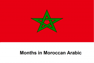 Months in Moroccan Arabic