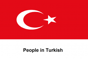 People in Turkish